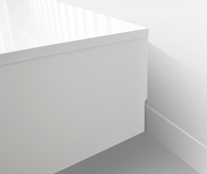 ローボード140cm[グラッディ]グロスホワイト画像11