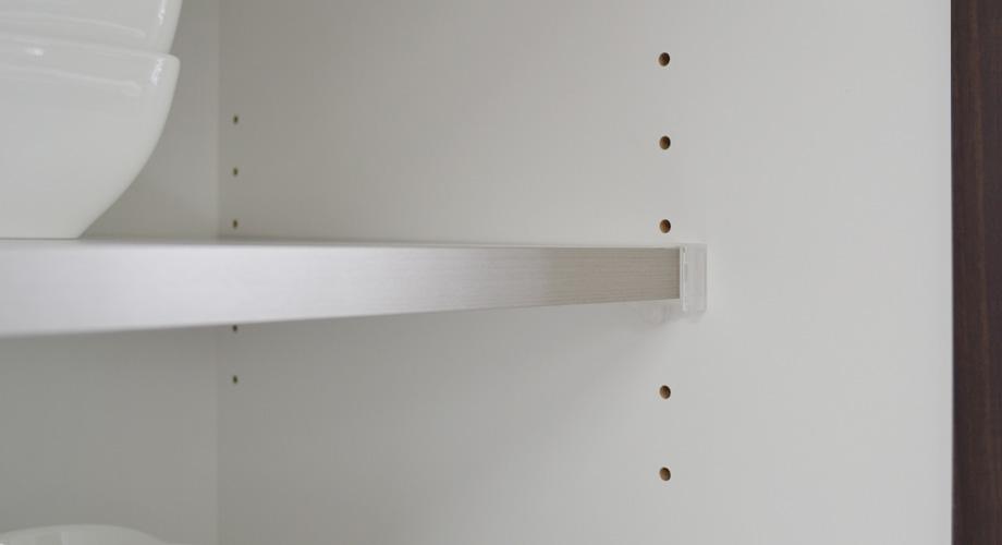 ((アルム2)スリム食器棚幅40cm耐震棚受け