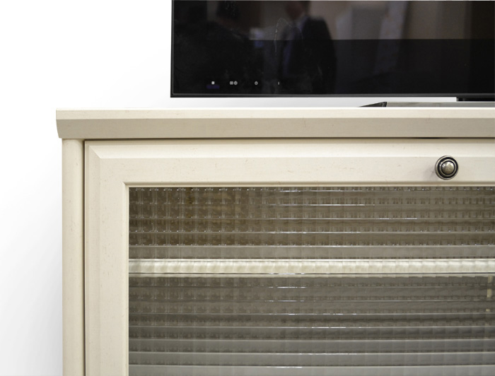 テレビ台、ヴァネッサ、クロスガラス