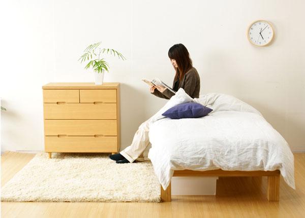国産 桐のすのこベッド・セミダブルイメージ画像3