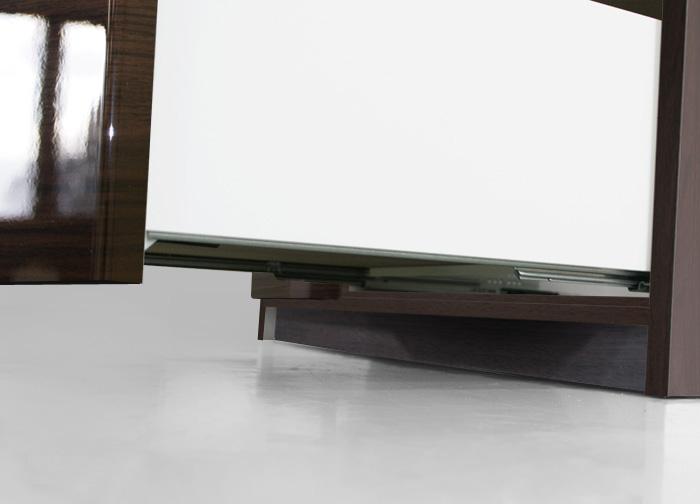 食器棚クラウド90ブラウン、引き出しスライドレール