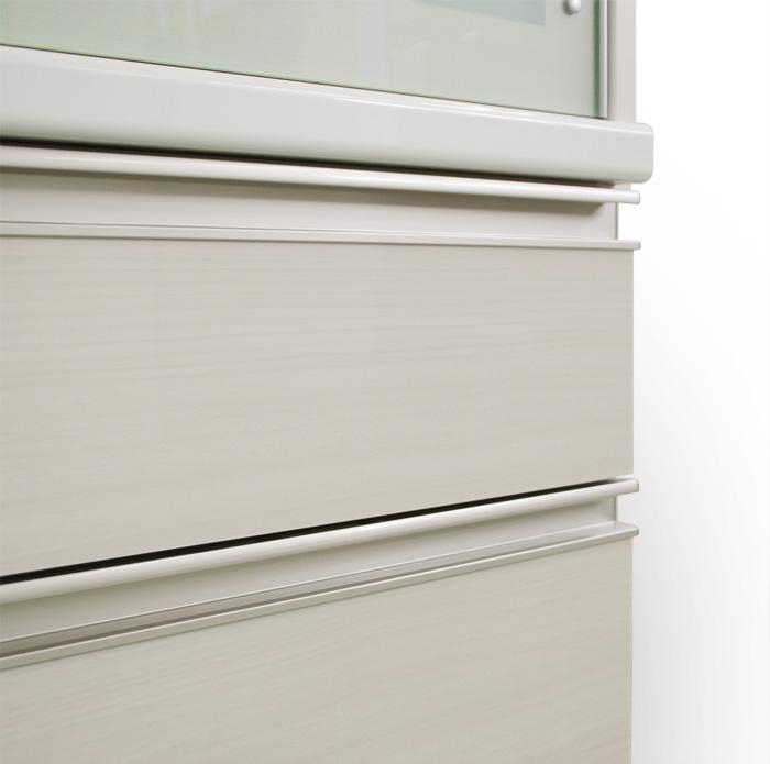 食器棚クラウド2、木目ホワイト