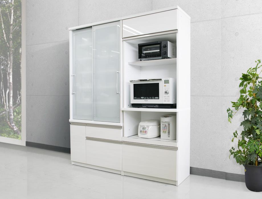(クラウド2)レンジ台幅70cm+食器棚90cm