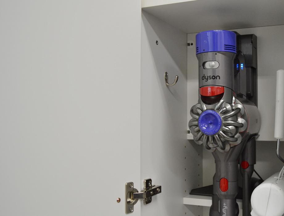 クリー二ー掃除機収納・ナチュラル・ダイソン充電