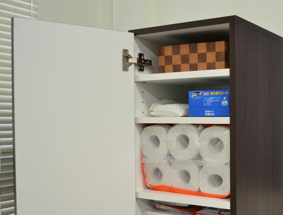 クリー二ー掃除機収納・ウォールナット・上段棚