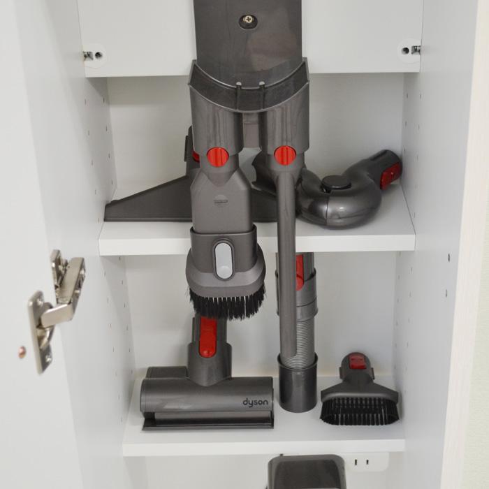 掃除機収納ラック、付属品収納