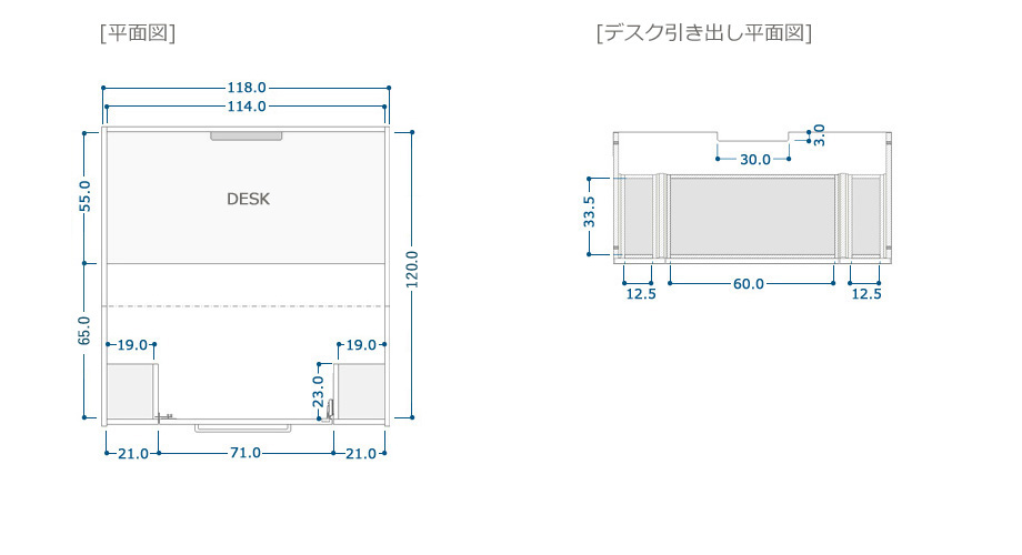 COZYROOM個室デスクサイズ2