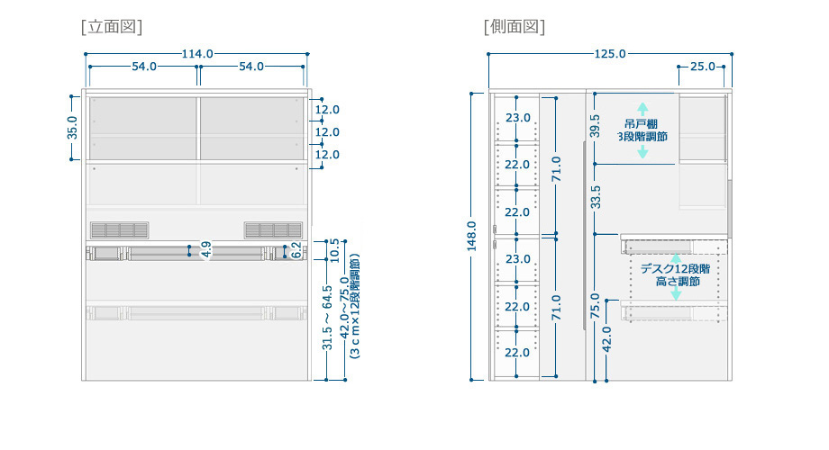 COZYROOM個室デスクサイズ3