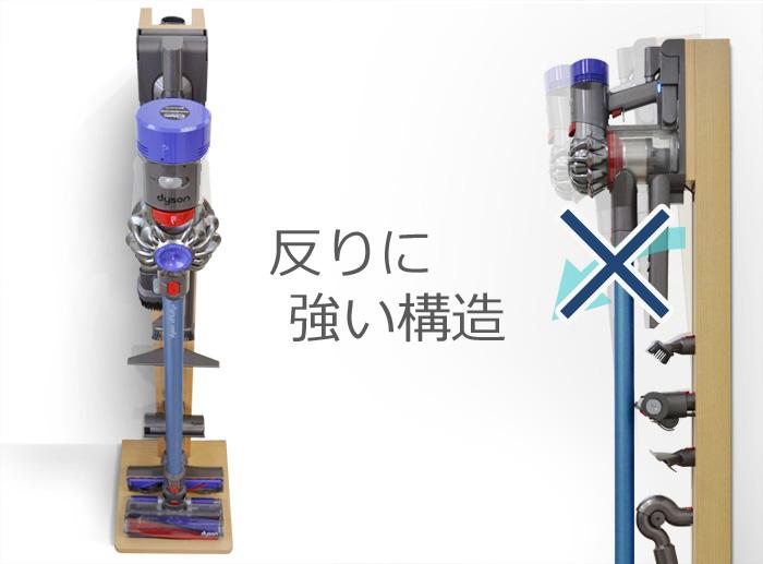ダイソン コードレスクリーナー専用ラック、幅木カット
