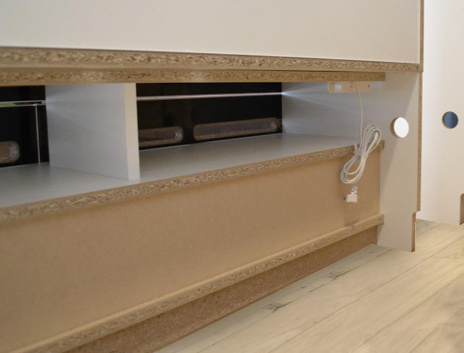 グラナー壁面収納家具扉2段ガラス扉ラック幅40cm画像14