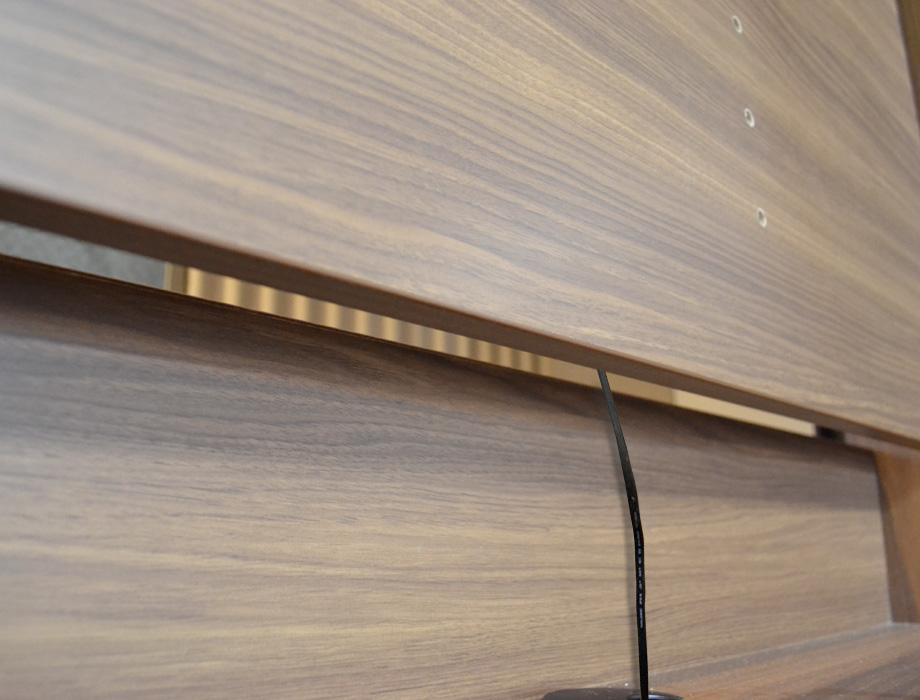 グラナー壁面収納家具扉2段ガラス扉ラック幅40cm画像13