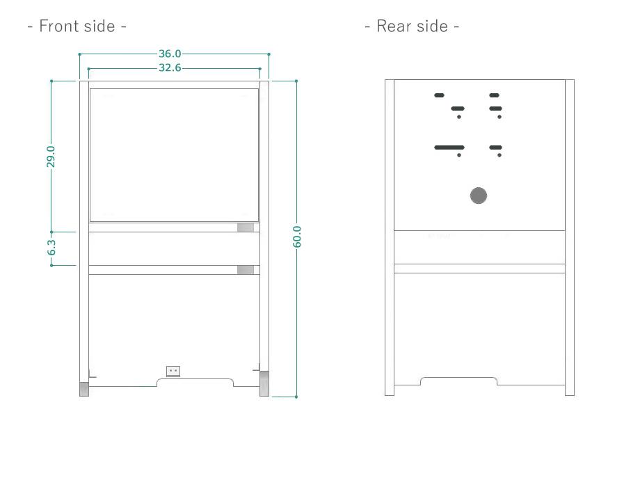 ハイアットテレビボード商品サイズ詳細1