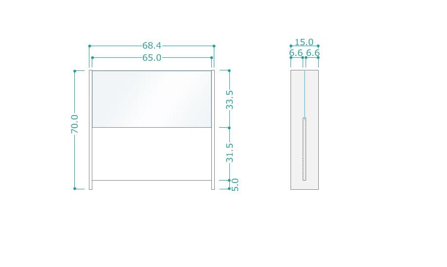 飛沫防止パーテーションパネルサイズ