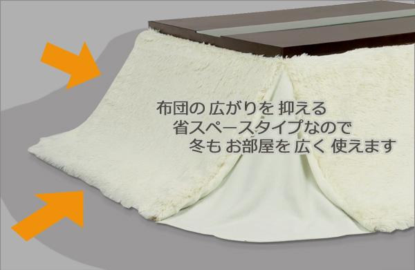 こたつ布団・天板105×75cm用イメージ画像4
