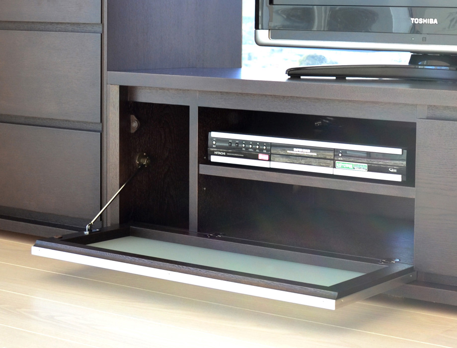 KODO(コドウ)コーナーテレビボード幅120cm・ダークブラウンイメージ11