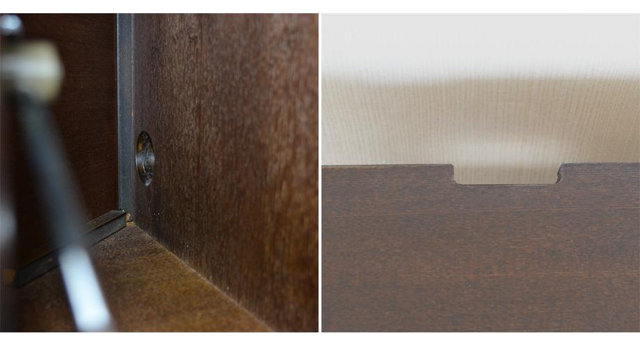 KODO(コドウ)コーナーテレビボード幅120cm・ダークブラウンイメージ12
