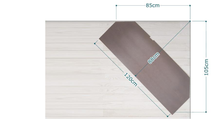 KODO(コドウ)コーナーテレビボード幅120cm・ダークブラウンイメージ5
