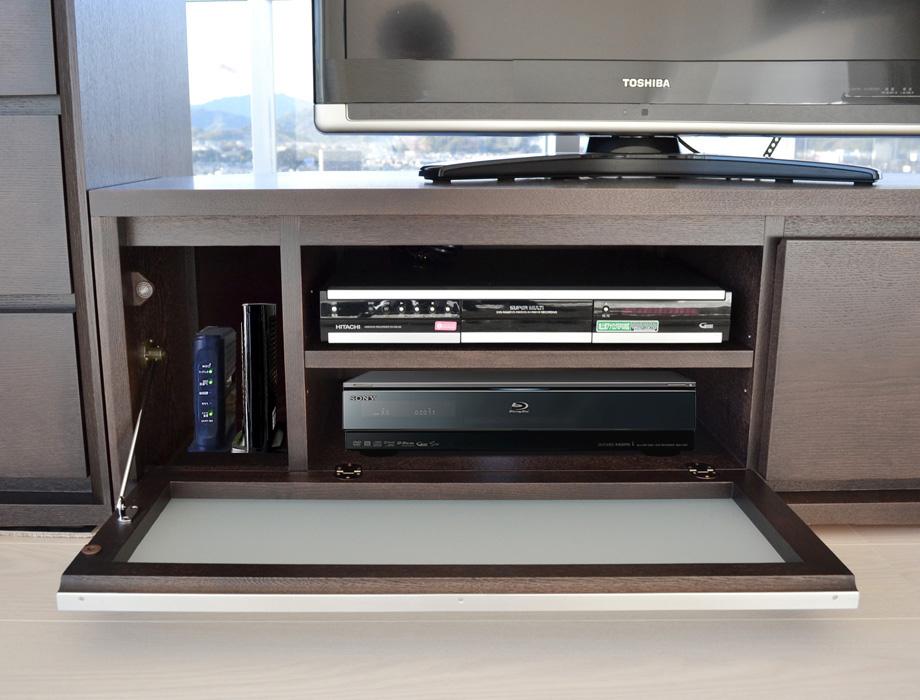 KODO(コドウ)コーナーテレビボード幅120cm・ダークブラウンイメージ10