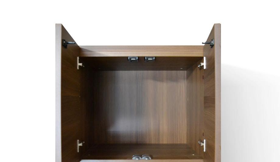グラナー壁面収納家具扉2段ガラス扉ラック幅40cm画像10