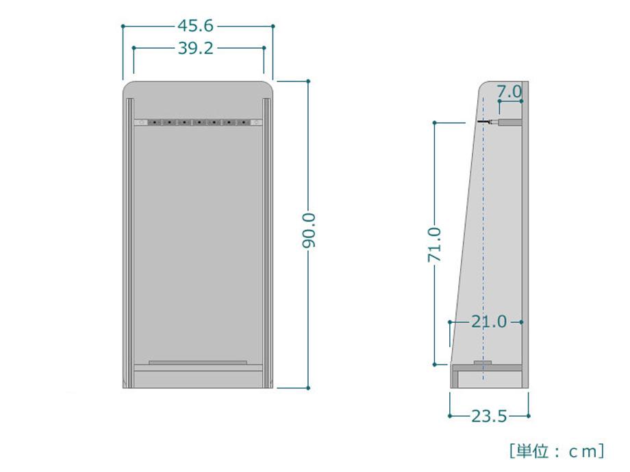 ZANE(ゼイン)ロッドスタンド・7本収納タイプ・ブラックウッドサイズ